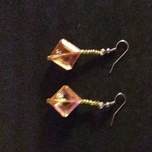 Yellow citrine earrings.